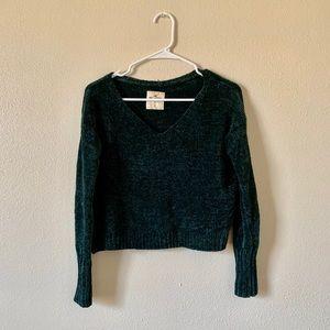 Hollister Deep Green Chenille Sweater